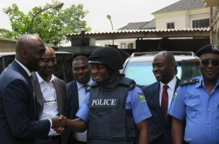 Photo of Presentation of 100 Bulletproof Vests and 100 Helmets to Lagos State Police Command