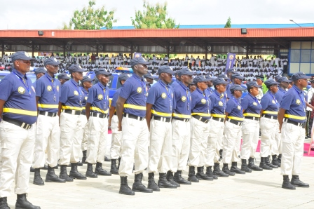 Photo of Official Presentation of the Newly Recruited Officers of the LNSC and Presentation of Donated Equipment